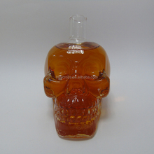 unique 75cl skull glass liquor vodka whisky red wine bottle with cork