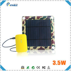 3W fashionable folding solar charger portable solar panel for bag