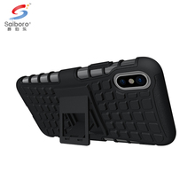 Mobile phone accessories tyre design kickstand case cover for iphone 8