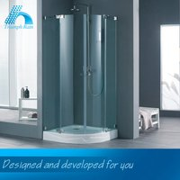 Professional Produce Price Cutting Personalized Painting Curved Glass Shower Enclosure