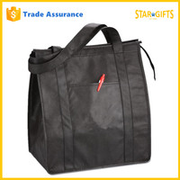 Alibaba China Supplier Custom Black Thermal Lined Leakproof Cooler Bag