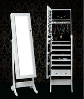 HOT SELL ECO-more New Style Wooden Jewelry mirror cabinet/Jewelry armorie