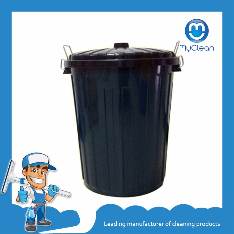 outdoor cheap round plastic garbage trash can with lid