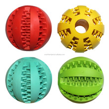multicolor 5cm and 7cm natural rubber chew ball dog toy