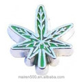 Wholesale assorted floating cannabis marijuana leaf charm for magnetic glass locket