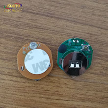 Very small round led light with battery, small battery operated led light