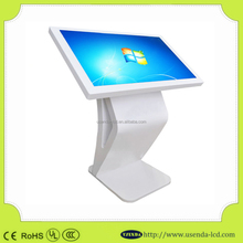 "TFT Floor Stand 46"" LCD Screen with iphone design Advertising Totem Network Media Player for Indoor Digital Signage Solutions"