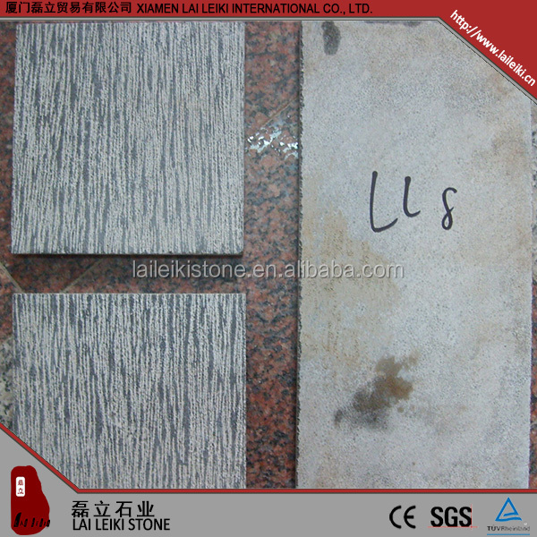 High quality flamed and brushed limestone block price
