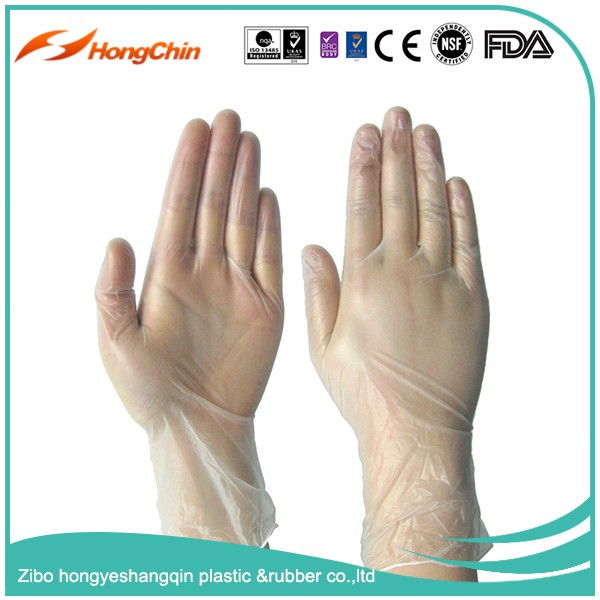 CE/ISO/FDA cetificated powdered disposable ansell vinyl gloves