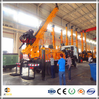 600m water drilling capacity Truck mounted hydraulic rotary bore hole drilling rig equipment export to USA