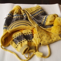 Wholesale Popular Knitted Pattern Hat Scarf