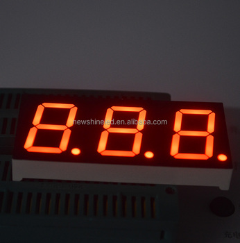Competitive prie 0.4 inch led advertising digital display board 3 three digit 7 segment led display for electric appliance