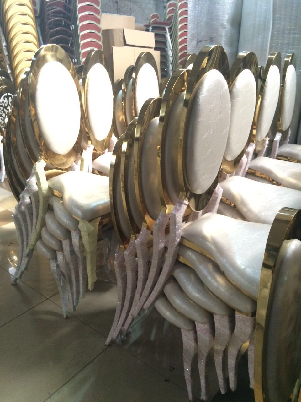 High quality wedding stainless steel chair for rental