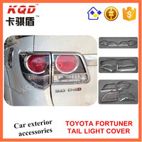2016 new chrome taillight/ tail light cover for toyota fortunes 2016 accessories SUV auto car parts