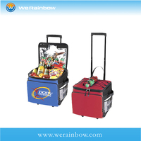 high quality fashion insulated cooler bag with wheels