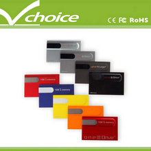 who has the cheapest shipping rates transparent card usb flash drive with optional printing