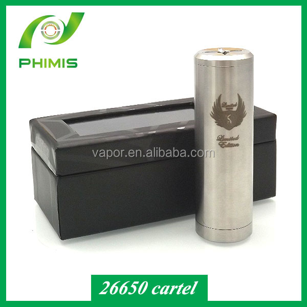 Fast delivery and high quality Copper cartel 26650 mod ecigs cartel 26650 copper mod for wholesale