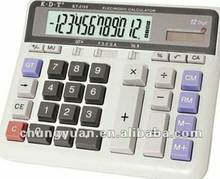 12 digits big lcd display clear plastic calculator KT-2135