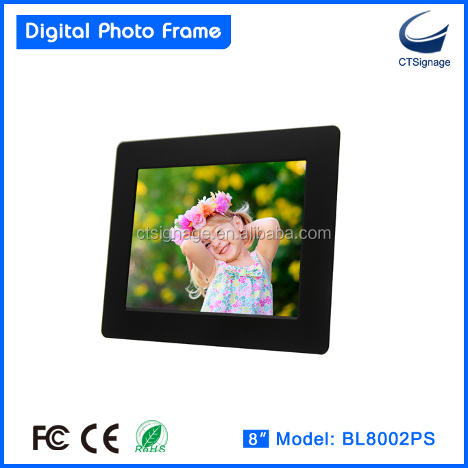 8-inch single-function digital frame BL8002PS christmas ball digital photo frame for kids, family, office, super markets