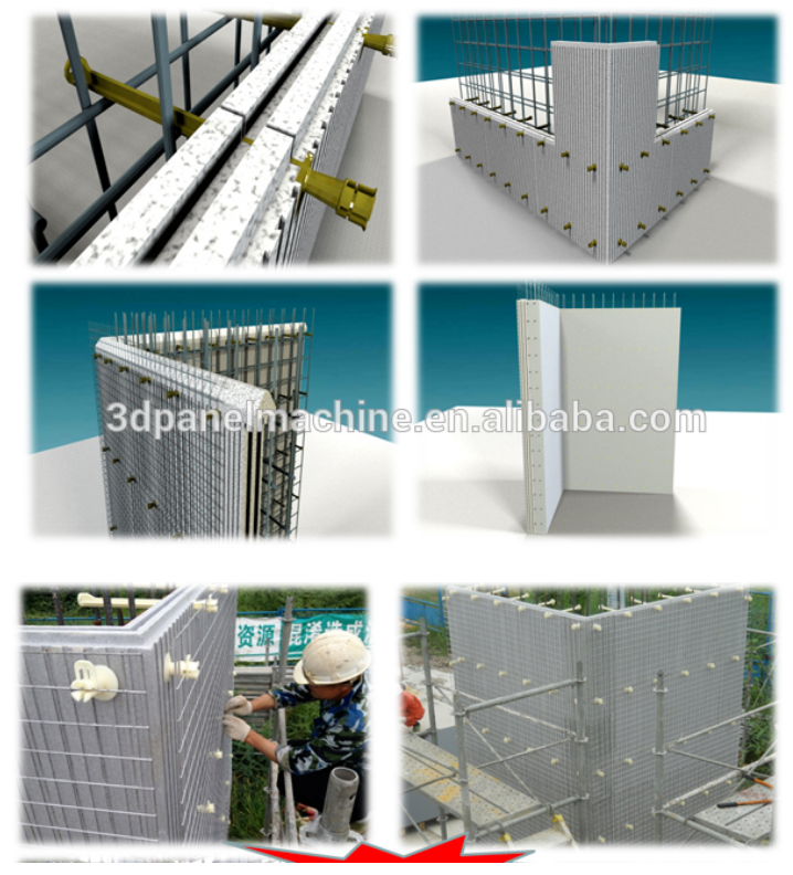High quality icf insulated Thermoforming concrete forms machine for building eps