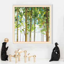 Newest popular western natural scenery paintings wood frames for five star decoration