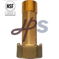 NSF-61 Approved lead free brass Water Meter Tail piece of Awwa Standard