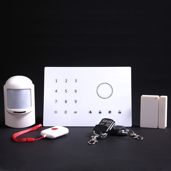 Android/iPhone App wireless home GSM Security digital touch keypad wifi alarm system