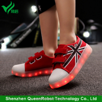 LED Canvas Shoes 2016 New Model LED Light Running Shoes Kids LED Shoes for Girls & Boys