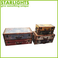 shabby chic antique wooden trunk with lock