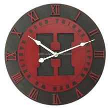 good things happen when we believe carved wood wall clock decor