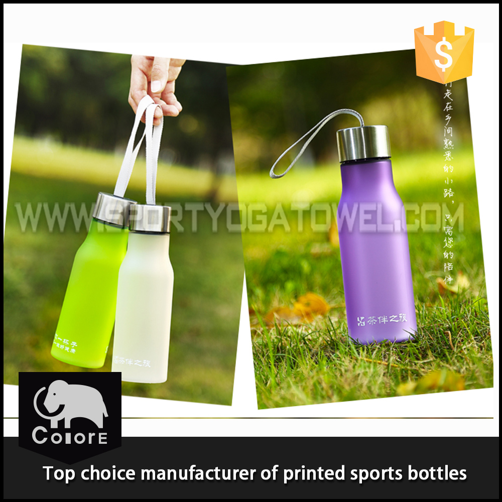 Wonderful transparent effect or frosted sports plastic water bottle