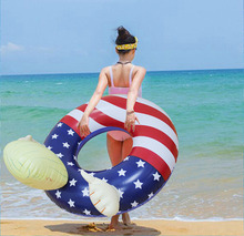 Wholesale Summer Trump swimming ring Inflatable Floats Thicken Pool Float swiming rings for adults custom PVC swimming rings