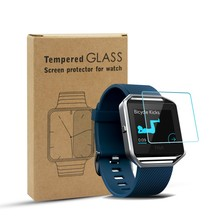 hot sale new premium 9H shatter proof glass screen protector for Fitbit Blaze