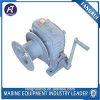Marine electric tractor off road hand winch