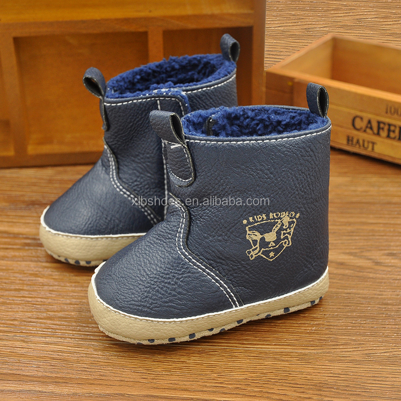 XIAOLIUBAO 2016 new fashion design baby shoes boots winter baby bootie leather