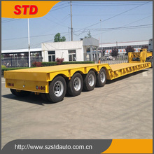 Alibaba China 60 tons 4 axles lowboy semi trailer