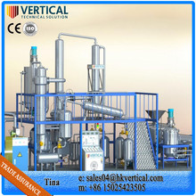 Petroleum Oil Refinery Plant Waste Engine Oil Recycling To Diesel Light Oil Filtration Plant