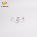 Simple style zircon women sample diamond wedding ring 2 gram gold ring design