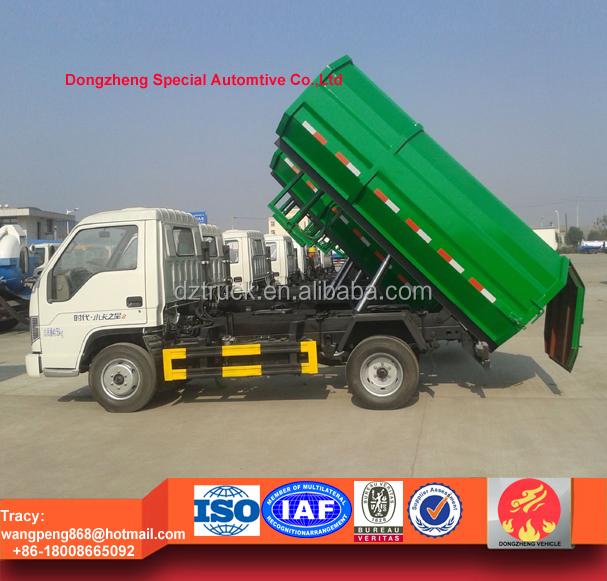 Foton MINI side loading garbage truck, 4tons hydraulic dustcart for sale