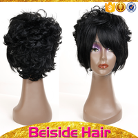 BSD Thick indian women hair wig fluffy synthetic hair wig with top quality