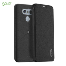 Lenuo soft PU leather flip cover for LG G6 mobile phone case