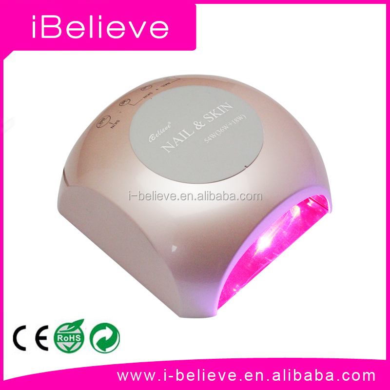54W led lamp nails for Skin anti-aging & curing gel polish nail led lamp korea