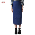 China wholesale denim pencil skirt long