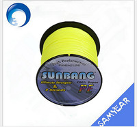 Multifunctional fluo yellow elastic fishing line made in China