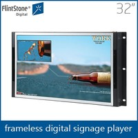Flintstone 32 inch lcd monitor pop display advertising stand with digital photo in retail stores