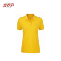 Women's Office Uniform Design Slim Fit Polo Shirt