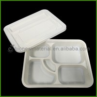 Biodegradable 5 Compartments Bento Box