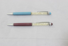 Elegant Color Crystal Pen Promotional Metal Ball Pen for Touch screen pen
