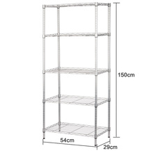 XM_215A DIY 5 Tier Multi-purpose Home Kitchen microwave oven rack Metal Storage Shelving Wire Shelf with hooks