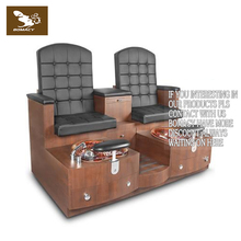 POPULAR!!! Custom built triple bench spa pedicure chair for beauty salon